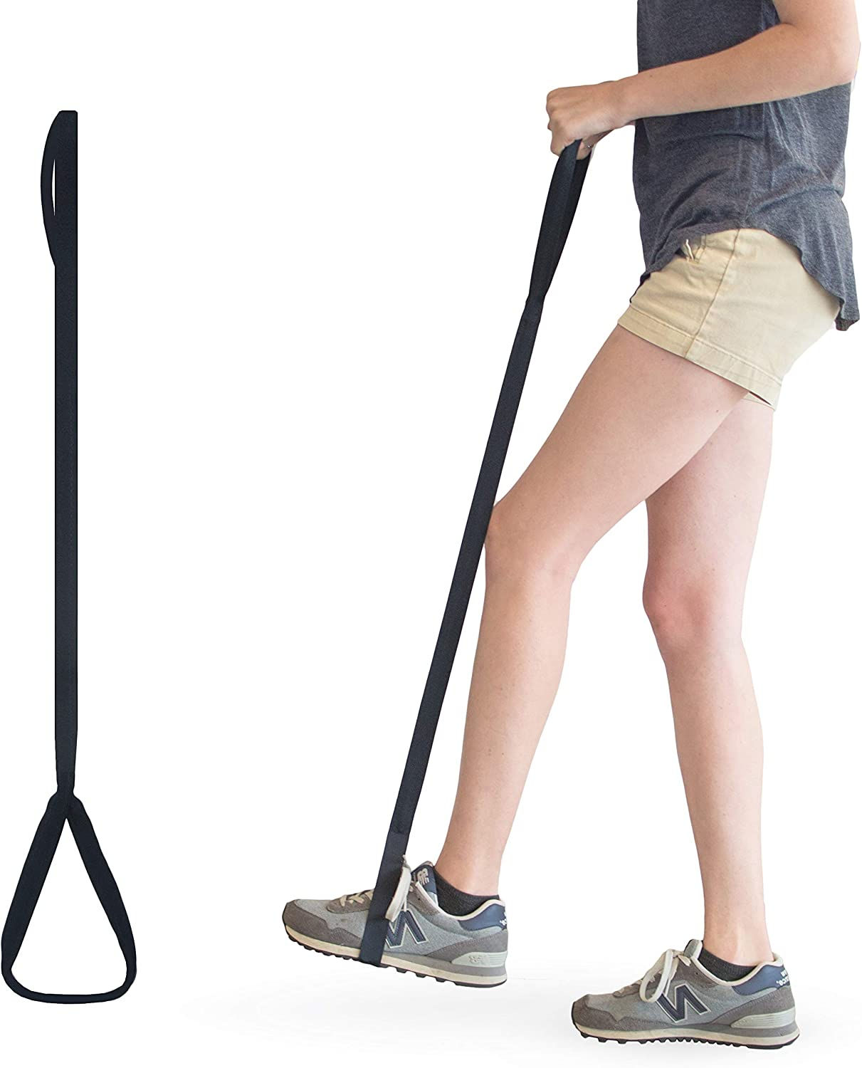 RMS 35 Inch Long Leg Lifter - Durable & Rigid Hand Strap & Foot Loop - Ideal Mobility Tool for Wheelchair, Hip & Knee Replacement Surgery (35 Inch Long): Health & Personal Care