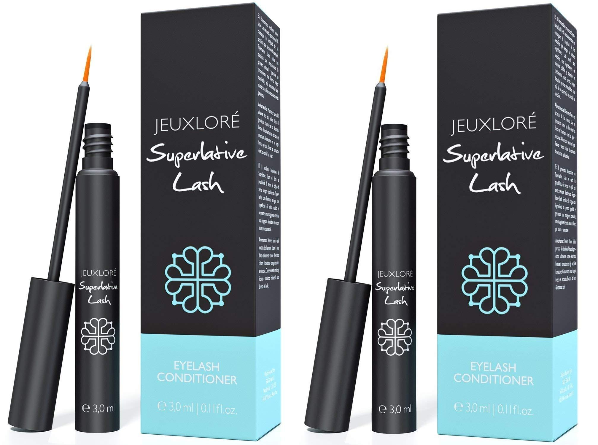 JEUXLORÉ - Eyelash Growth Serum - Thicker, Longer Eyelashes & Eyebrows - 3 ml (2 Pack)