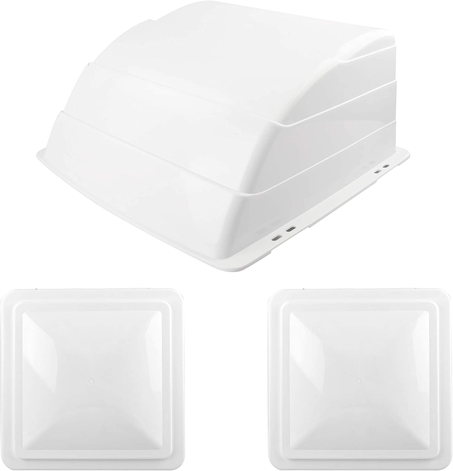 RVGUARD 3 Pack RV Roof Vent Cover, Replacement Vent Lid for Camper Motorhome Trailer, White