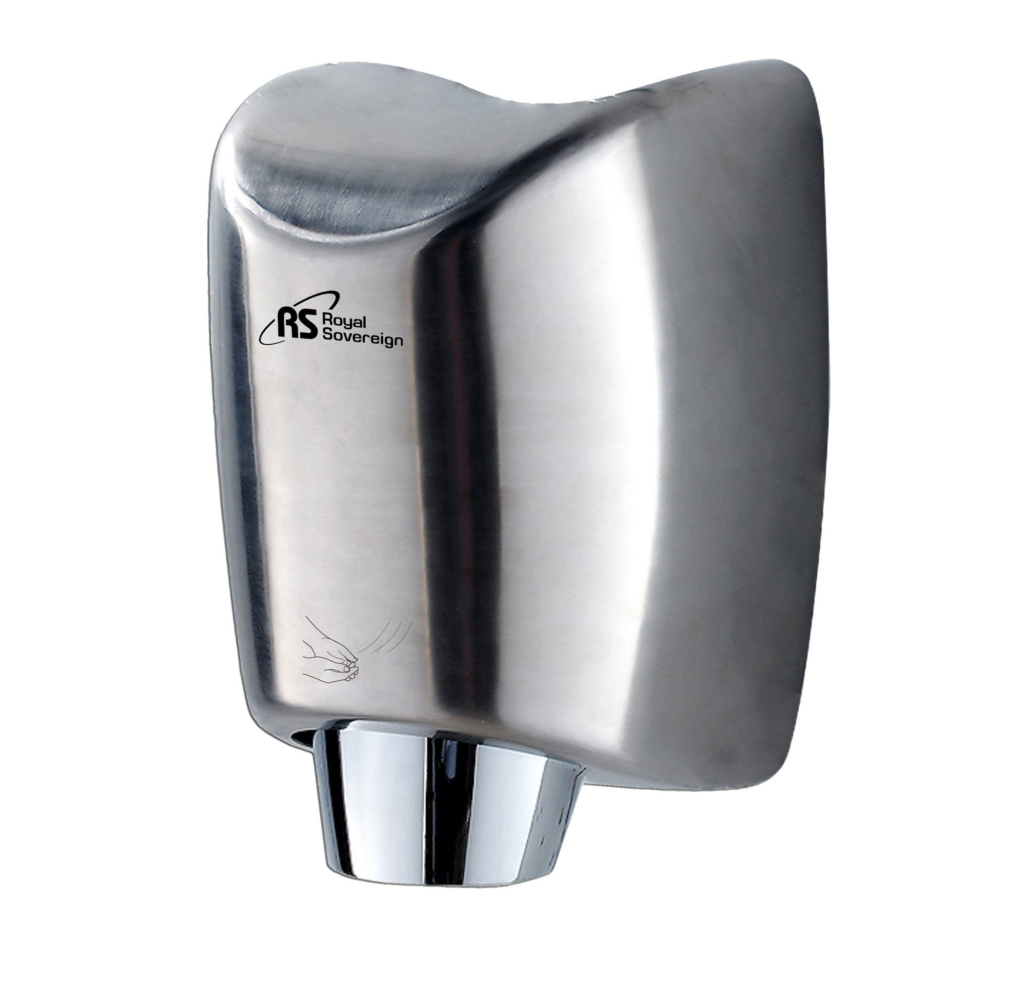 Royal Sovereign Premium Touchless Automatic Hand Dryer, 15 seconds Operating Time, 1400 Watt Stainless Steel, with air nozzel (RTHD-431SS) by Royal Sovereign