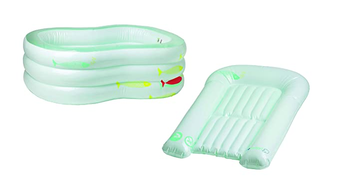 Bebe Confort - Bañera de bebé hinchable, convertible en cambiador