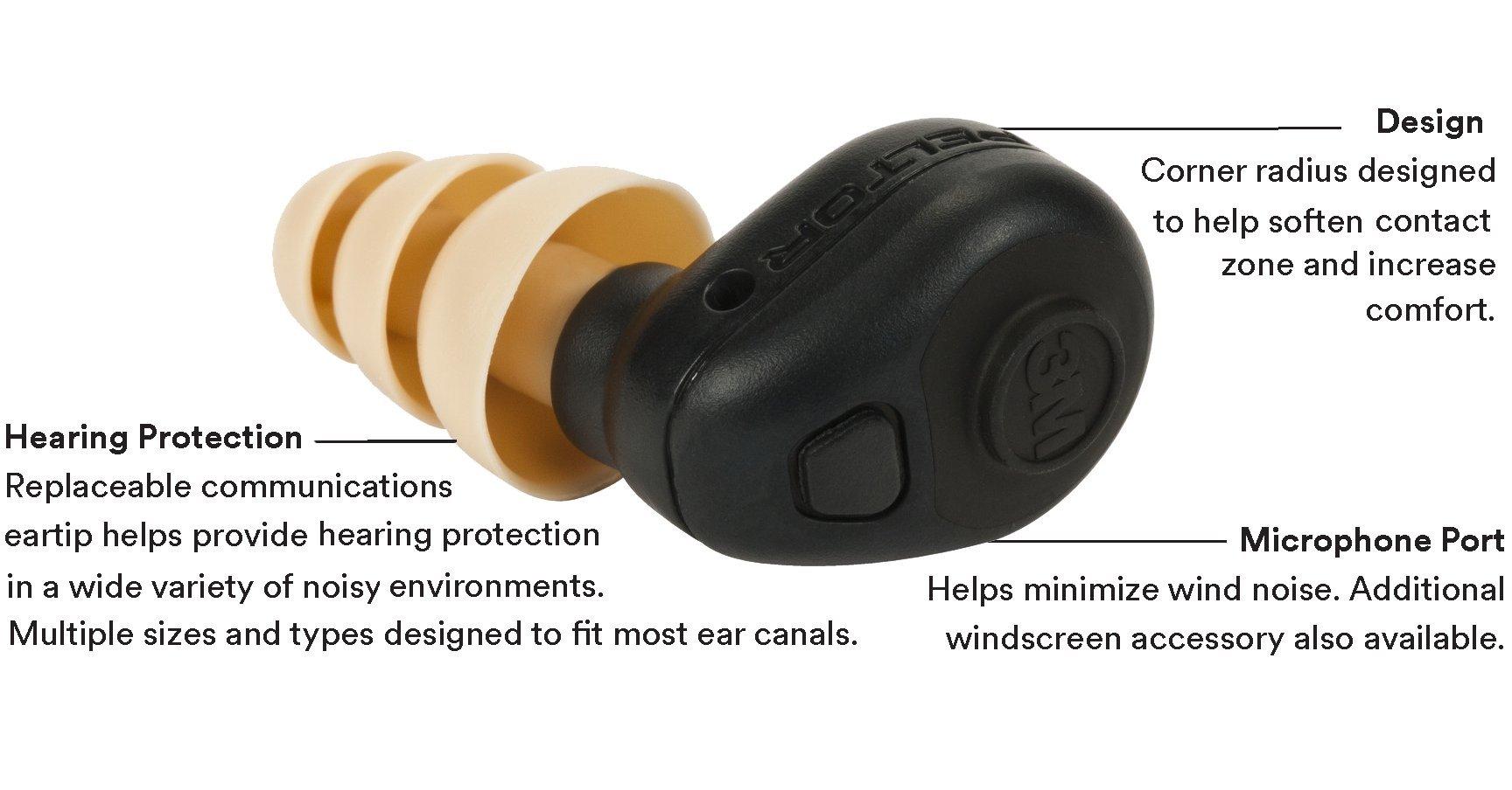 3M Personal Protective Equipment PELTOR 93824 Tactical Earplug, TEP-200 by 3M Personal Protective Equipment (Image #3)
