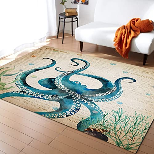 Best living room rug: Large Rectangle Area Rugs Shape Durable Low Pile 5' x 8'