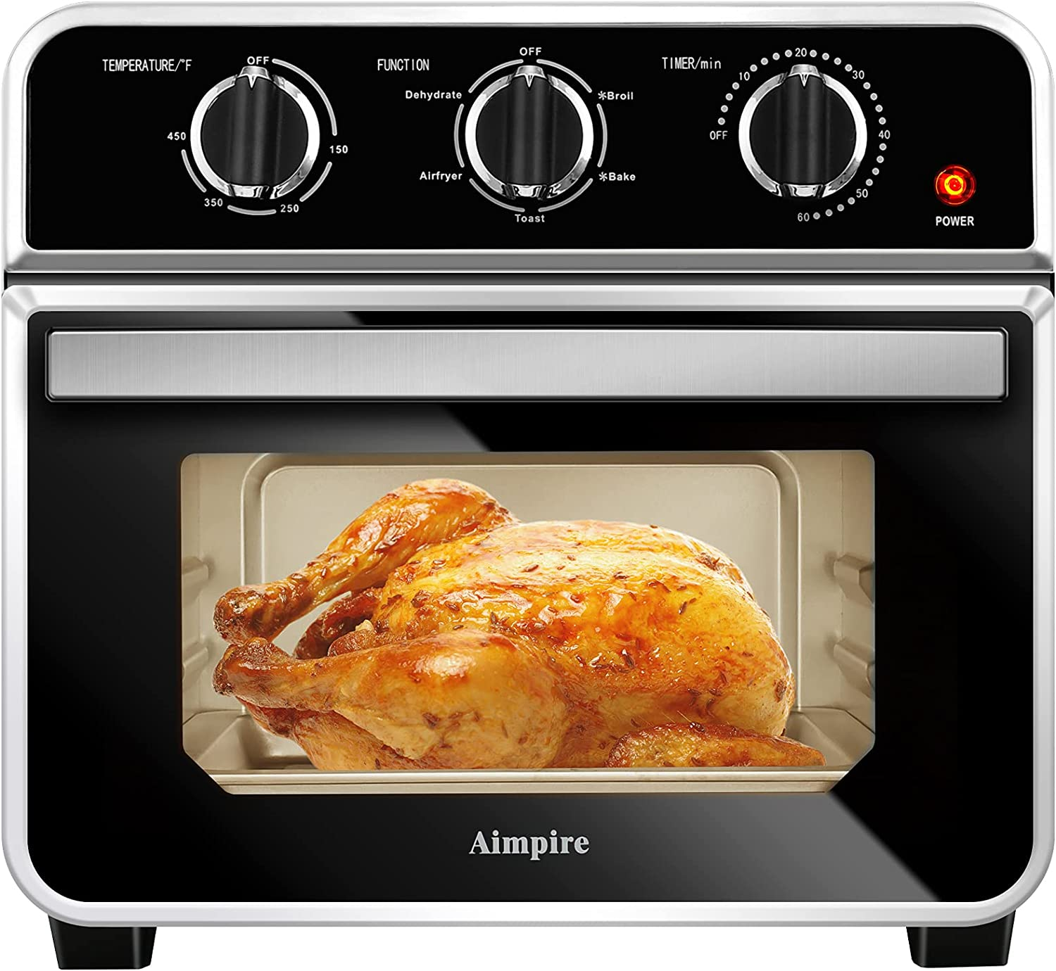 Aimpire Air Fryer Toaster Oven,15 quarts with Air Fry,Dehydrator, Bake, Broil and Toast Oil-Less Air Fryer Oven