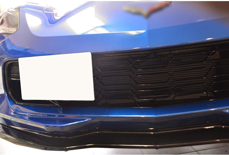 Xotic Tech Black Tow License Plate Frame Bumper Relocating Mount Bracket Kit for Chevrolet Corvette Z06//Z51//ZR1 2015-2019
