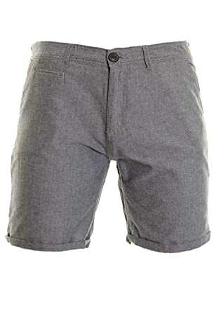 a67edaae3d5 Men's Turn Up Hem Cotton Smart Casual Summer Shorts Holiday Trousers  Stone,Blue