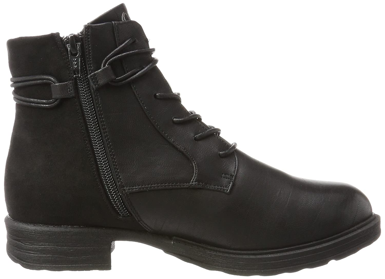 s.Oliver Damen 25107 Combat Boots, Schwarz (Black), 41 EU