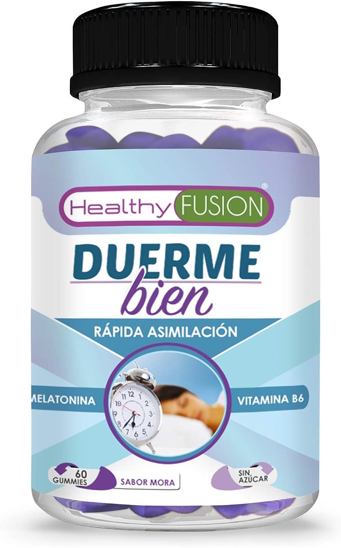 DUERME BIEN – Melatonina Pura 100% Asimilada de Absorción Sublingual + Vitamina B6 | Para un Descanso Profundo y Reparador | Dormirás Como Nunca Antes | Melatonina de Rápida Actuación | 60 UND.