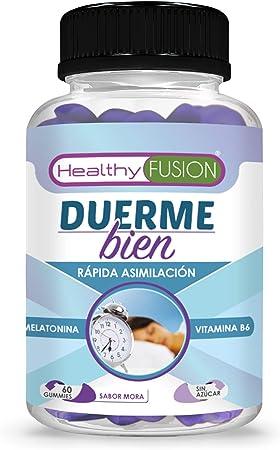 Melatonina pura con vitamina B6 | Melatonina de absorción sublingual | Conciliación rápida del sueño con efecto duradero | Sueño profundo y reparador | Reduce el estrés y la fatiga | 60