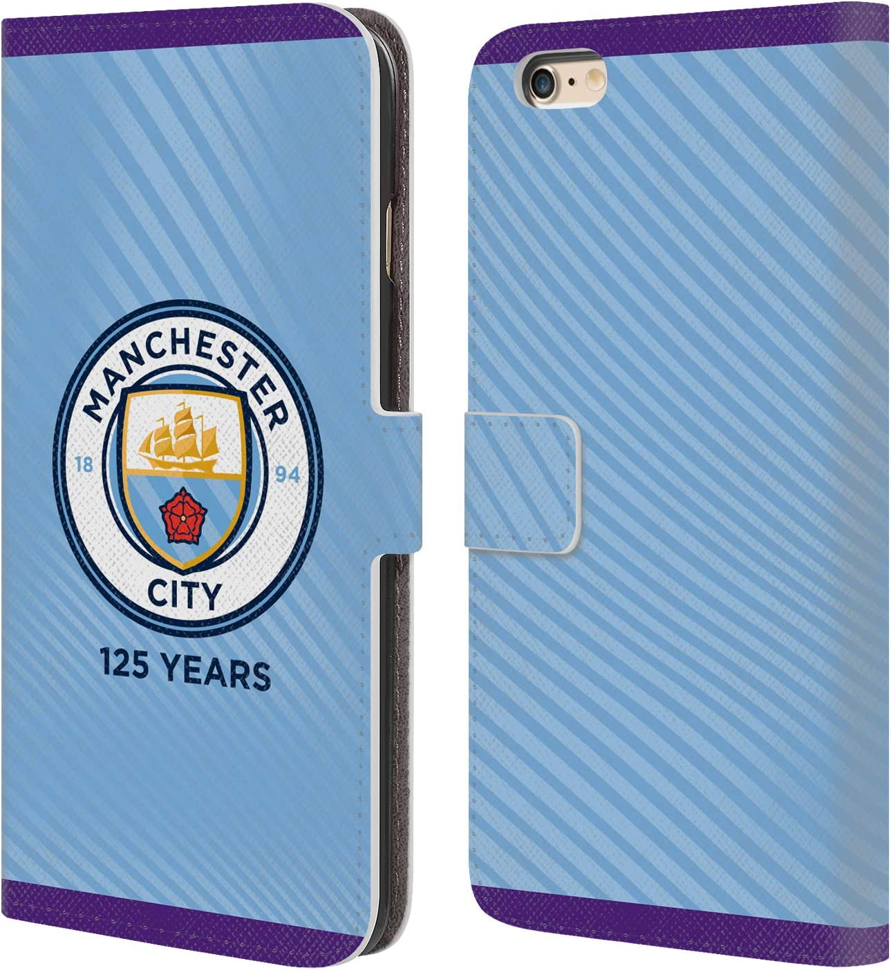 Iphone 6s Official Manchester City Man City Fc Home 2019 20 Badge Kit Leather Book Wallet Case Cover Compatible For Iphone 6 Accessories Chargers Charger Docks