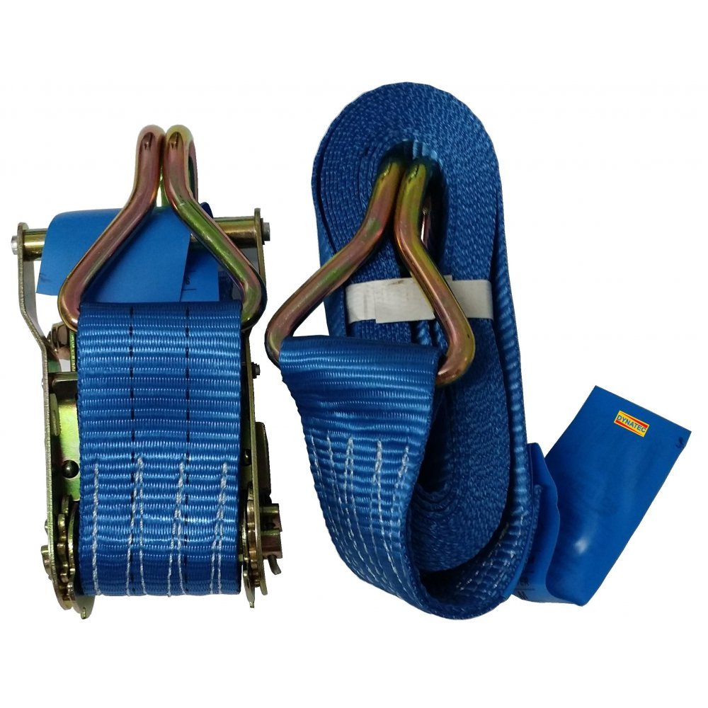 Ratchet Strap 4 Tonne Ton 50mm X 8 Metre Loading Lashing Cargo 5000kg Tie Down DYNATEX