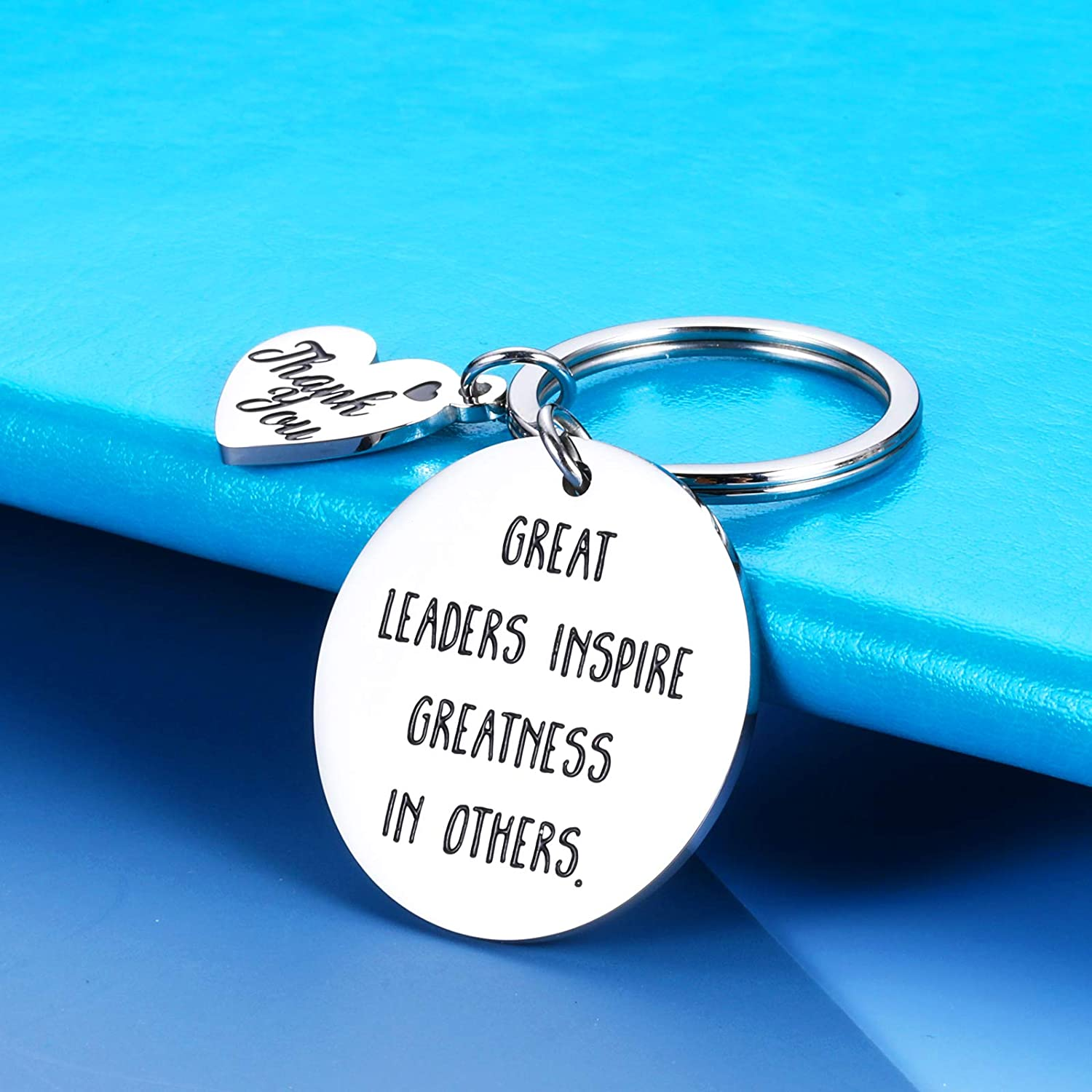 Boss Keychain Gifts for Women Men Lady Boss Leaders PM Supervisor Mentor Manager Birthday Boss Day Retirement Leaving Thank You Gifts Office Keychain for Him Her Coworker