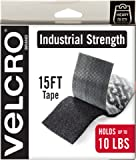 "VELCRO Brand - Industrial Strength Fasteners - Heavy Duty Stick On, 2"" x 15 ft. Roll, Black"