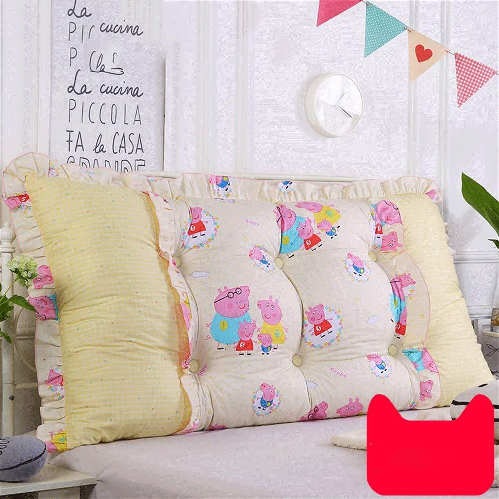 Unbekannt JXQ Kinderzimmer Nacht Cartoon Kissen Kissen Soft Bag Sofa Große Rückenlehne Kissen Lendenkissen Männliches Mädchen Nette Abnehmbare, 19 Farben & 10 Größen (Color : M, Size : 200x18x50cm)