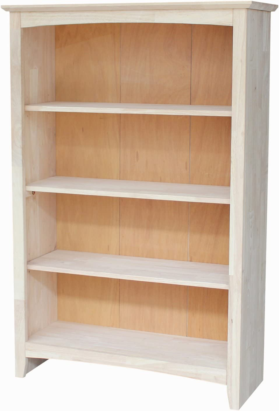 International Concepts Shaker Bookcase, 48-Inch, Unfinished