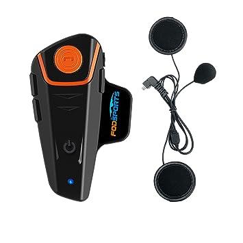 Casco Sistemas de comunicación Fodsports BT-S2 Intercomunicador de Motocicleta Auriculares Bluetooth Interfaz de Motocicleta
