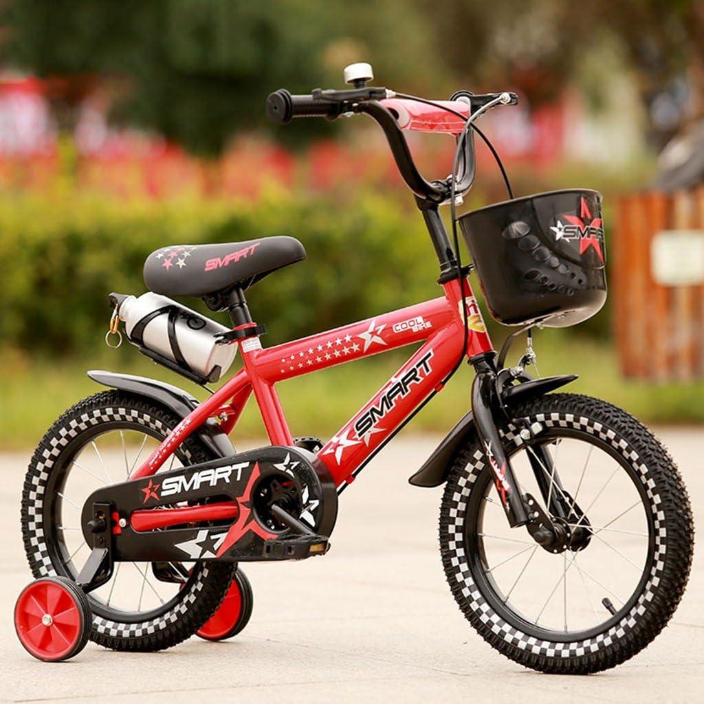 Guo shop- Bicicleta del doblez del niño 3-6-8 años Cochecito de bebé 12 pulgadas 14 pulgadas 16 pulgadas Bicicleta de 18 pulgadas bicicletas para niños (Color : Azul , Tamaño : 16Inch) : Amazon.es: Jardín