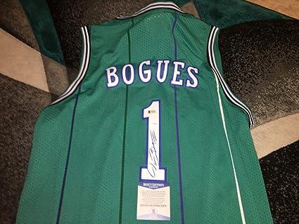 c002b46ff Muggsy Bogues Signed Jersey - Superstar Beckett - Beckett Authentication -  Autographed NBA Jerseys