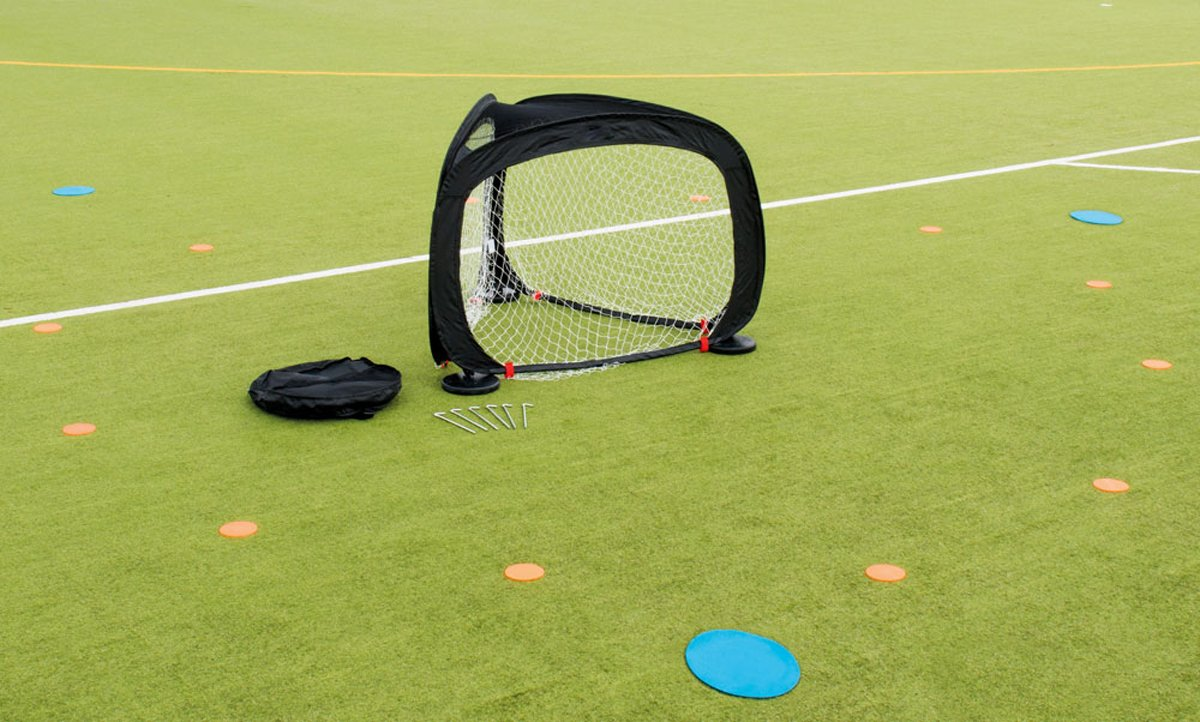 Precision Training Soccer Sports Practice Equipment Tri Goal With Carry Bag