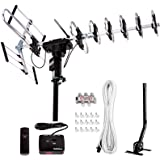 [Newest 2020] Five Star Outdoor Digital Amplified HDTV Antenna - up to 200 Mile Long Range,Directional 360 Degree Rotation,HD