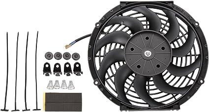 Dromedary Radiador Eléctrico Intercooler 12V Slimline Ventilador ...