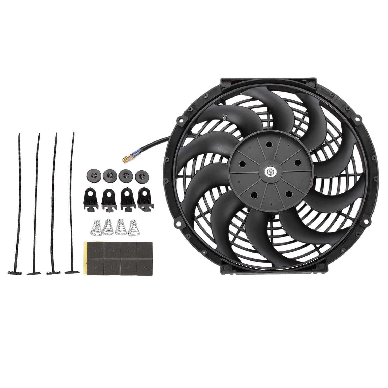 Dromedary Radiador Eléctrico Intercooler 12V Slimline Ventilador de refrigeración 12 pulgadas 80W Dromedary Autoparts