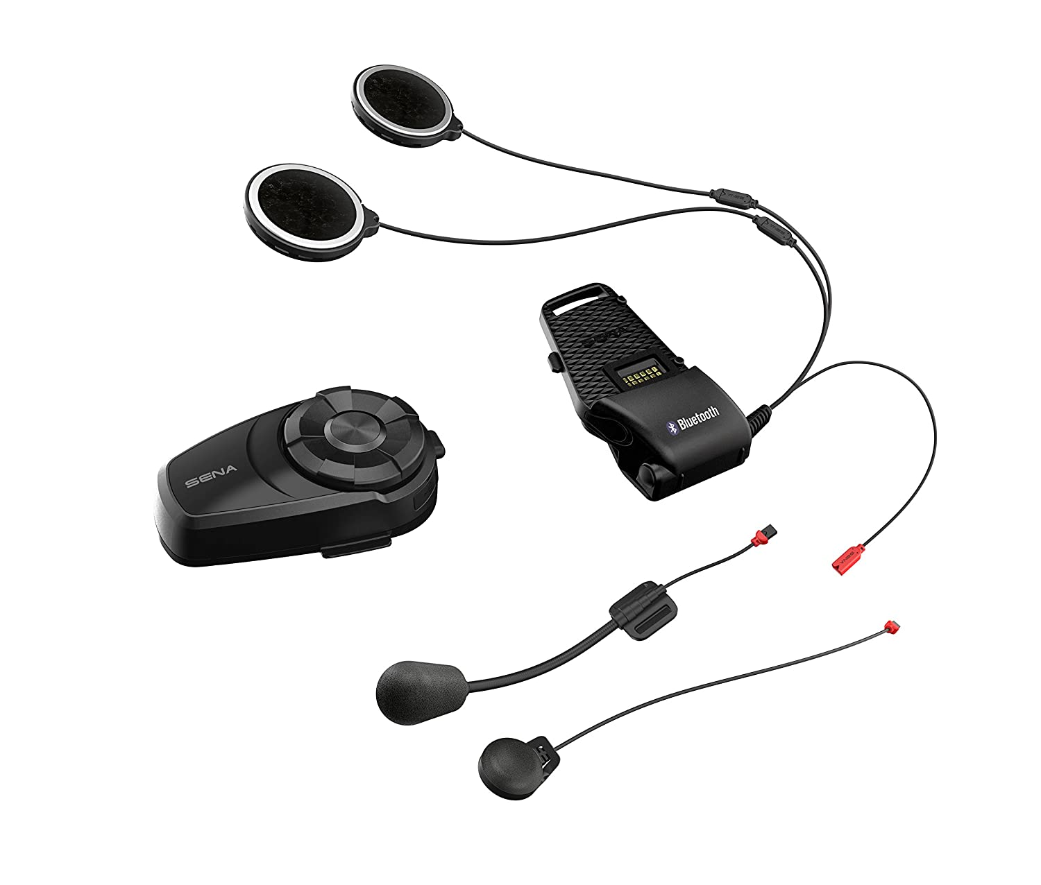 Sena 10S-01D Motorcycle Bluetooth Communication System Dual Pack