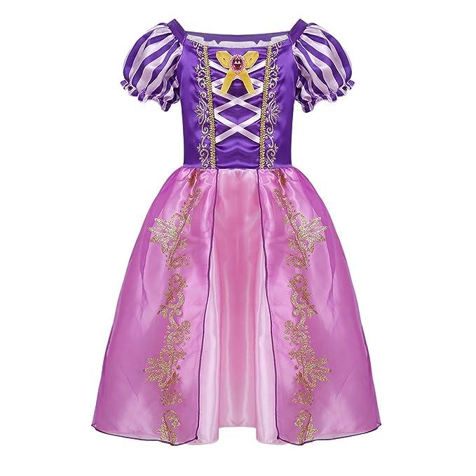 Freebily Vestido de Princesa Blancanieves Tales Disfraces para Halloween Cosplay Costume para Niñas Morado 12-