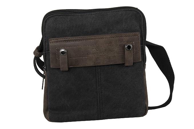 264652c037 Lumberjack Tracolla uomo nera borsa bandoliera borsello piatto F650:  Amazon.it: Abbigliamento