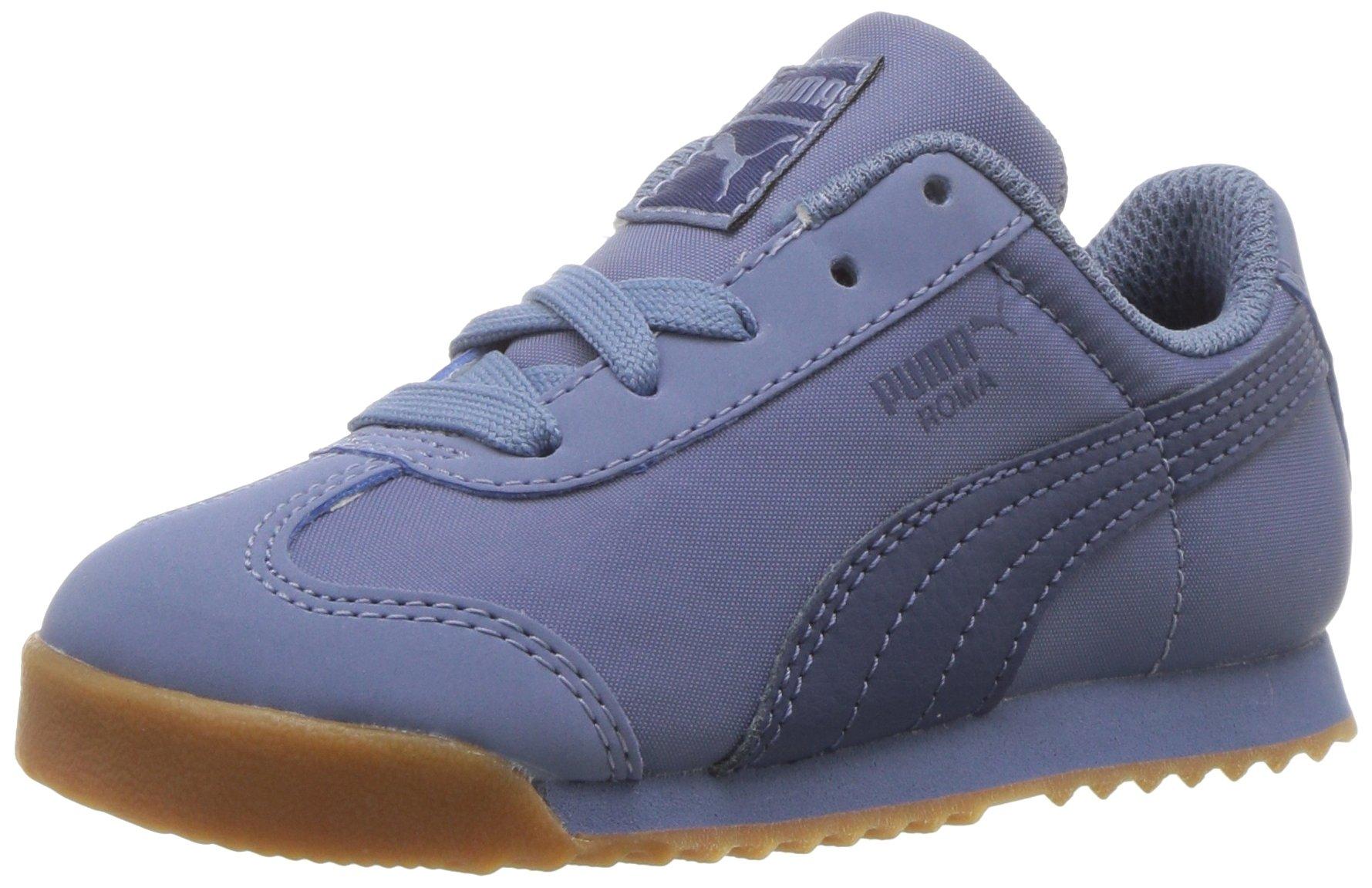 PUMA Unisex-Kids Roma Basic Summer Sneaker, Infinity-Blue Indigo, 13 M US Little Kid