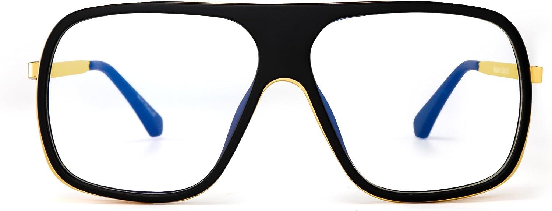 Jim Halo Plano Top Espejo Diseñador Gafas de Sol Cuadrado Lentes Claros de Metal Sombras Hombre Mujer