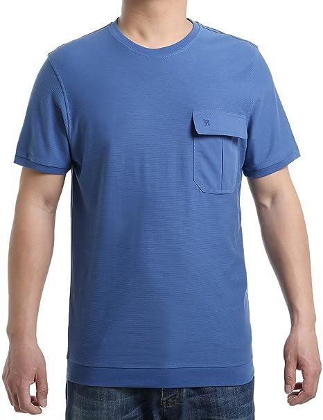 Hombre Camisetas Originales Style Largas Manga Corta Casual Verano Regalo del Día del Padre(L-4XL) 73ZA4