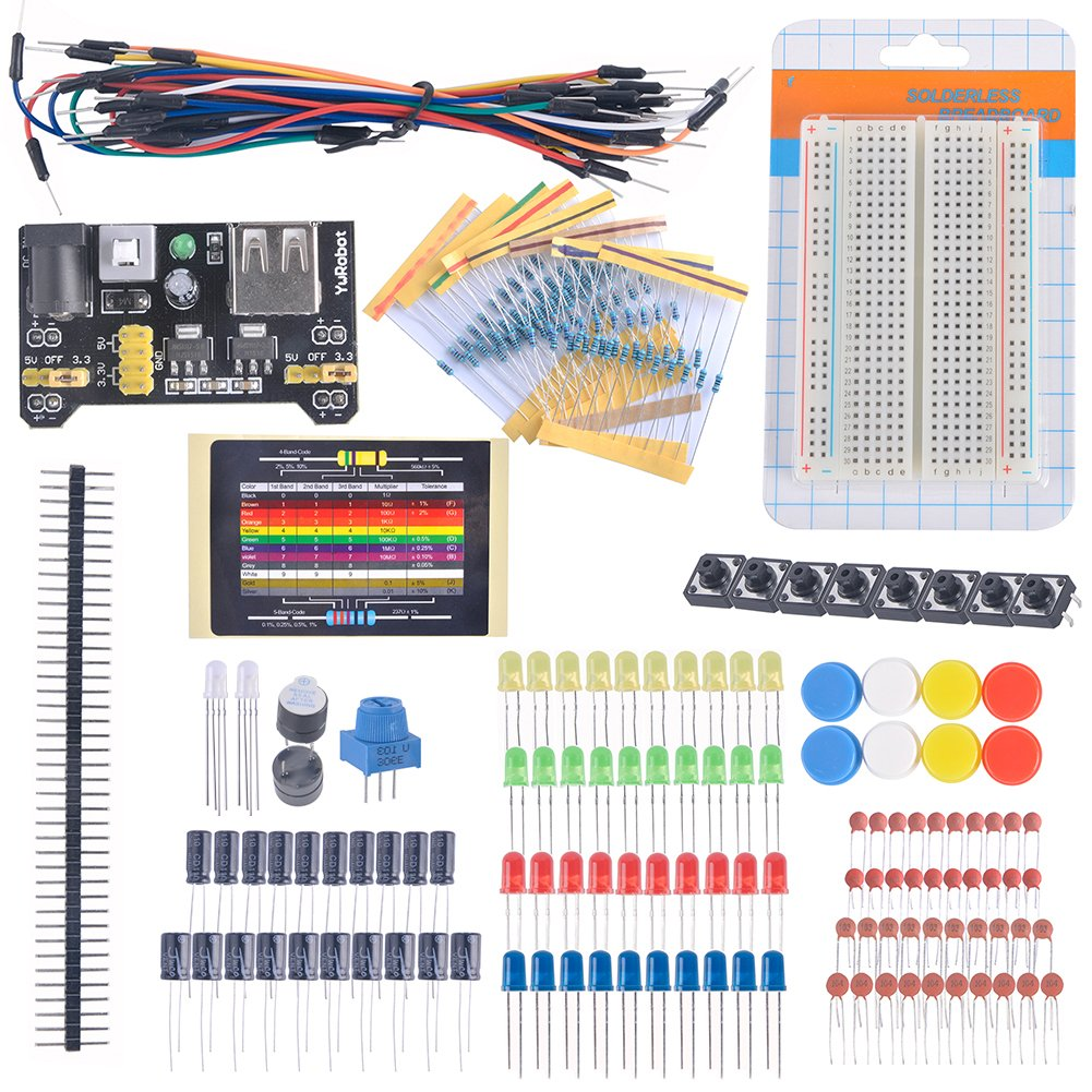 Diymall For Arduino Starter Beginner Kit Breadboard Cable Resistor Build Your Own Circuit On A Capacitor Led Potentiometer Learning Buy