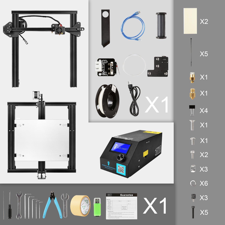 SainSmart Creality ''CR-10 Mini'' 3D Printer Semi Assembled Aluminum with  Heated Bed Printing Size 11 8'' x 8 66'' x 11 8''(300x220x300mm)