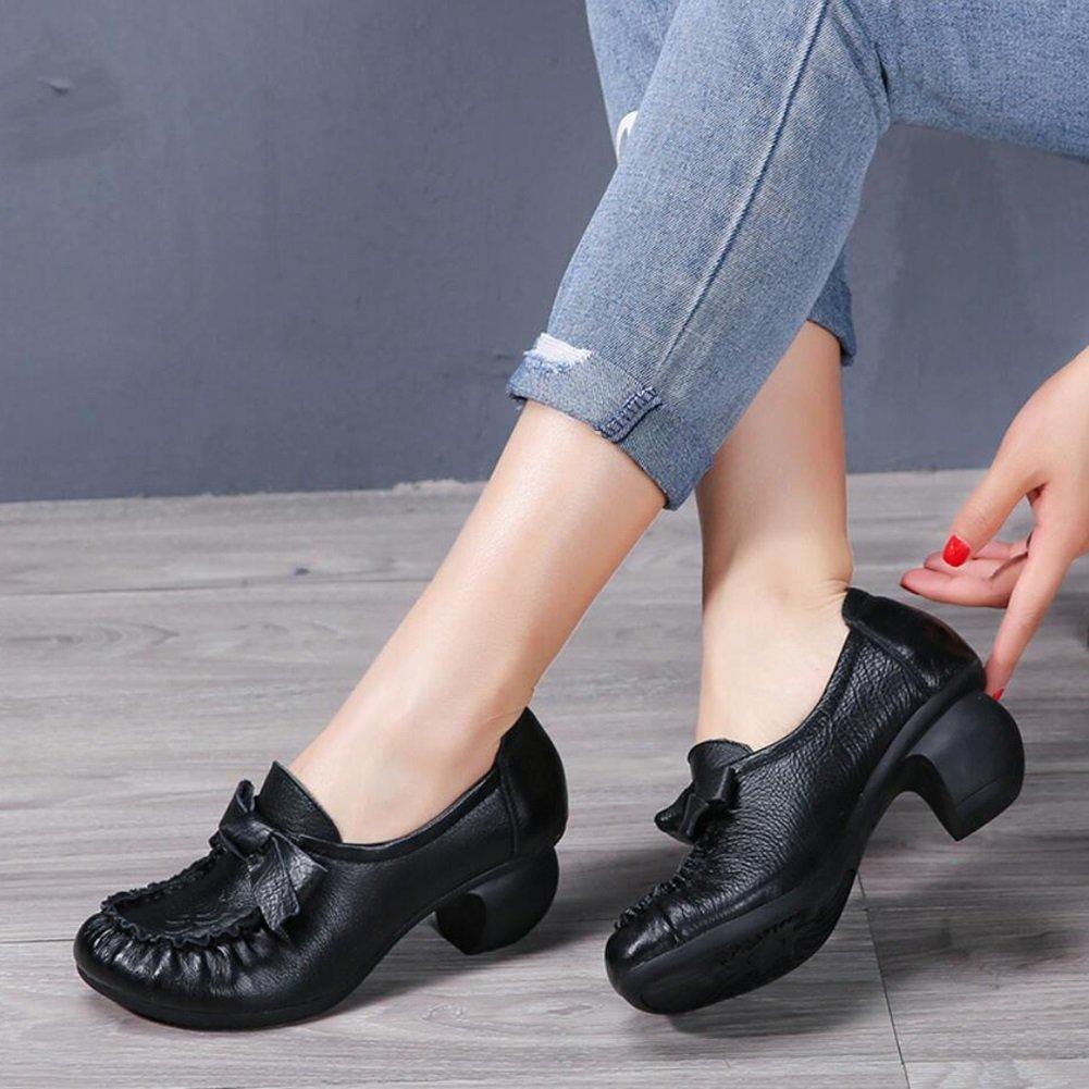 XUE Damenschuhe Leder Frühjahr Sommer Loafers Loafers Loafers & Slip-Ons Fahr Schuhe National Style Sandalen Hausschuhe & Flip-Flops Wanderschuhe Office Breathable (Farbe   EIN Größe   40) e7e628