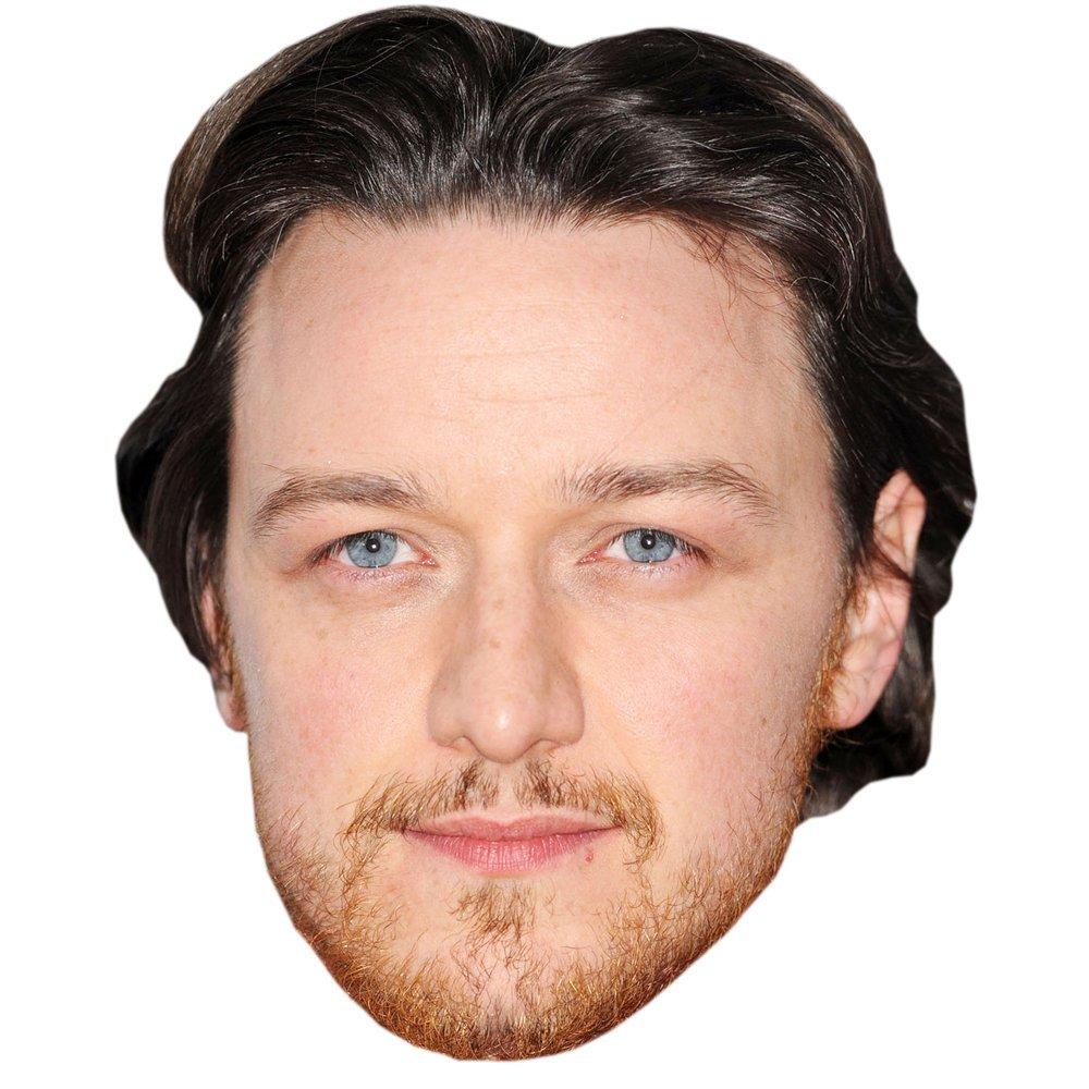 Card Face and Fancy Dress Mask James McAvoy Celebrity Mask