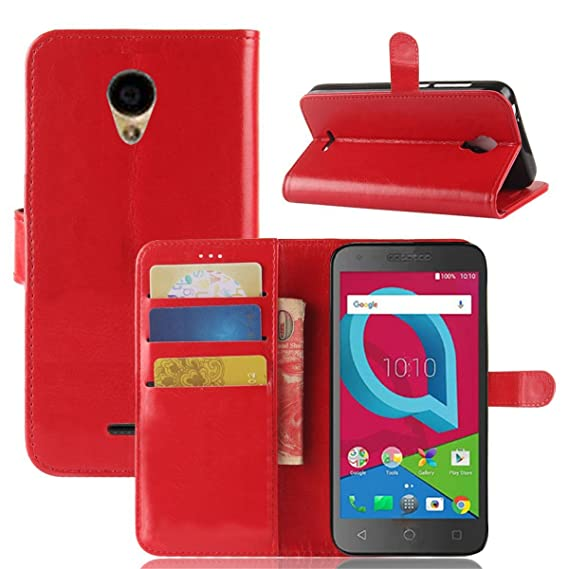 wholesale dealer bf044 b3602 Alcatel IdealXCITE / Verso / CameoX 5044R / Raven LTE A574BL Case, Alcatel  U50 5044S Case, Telegaming Retro Oil Wax Leather Wallet Flip Case With Card  ...