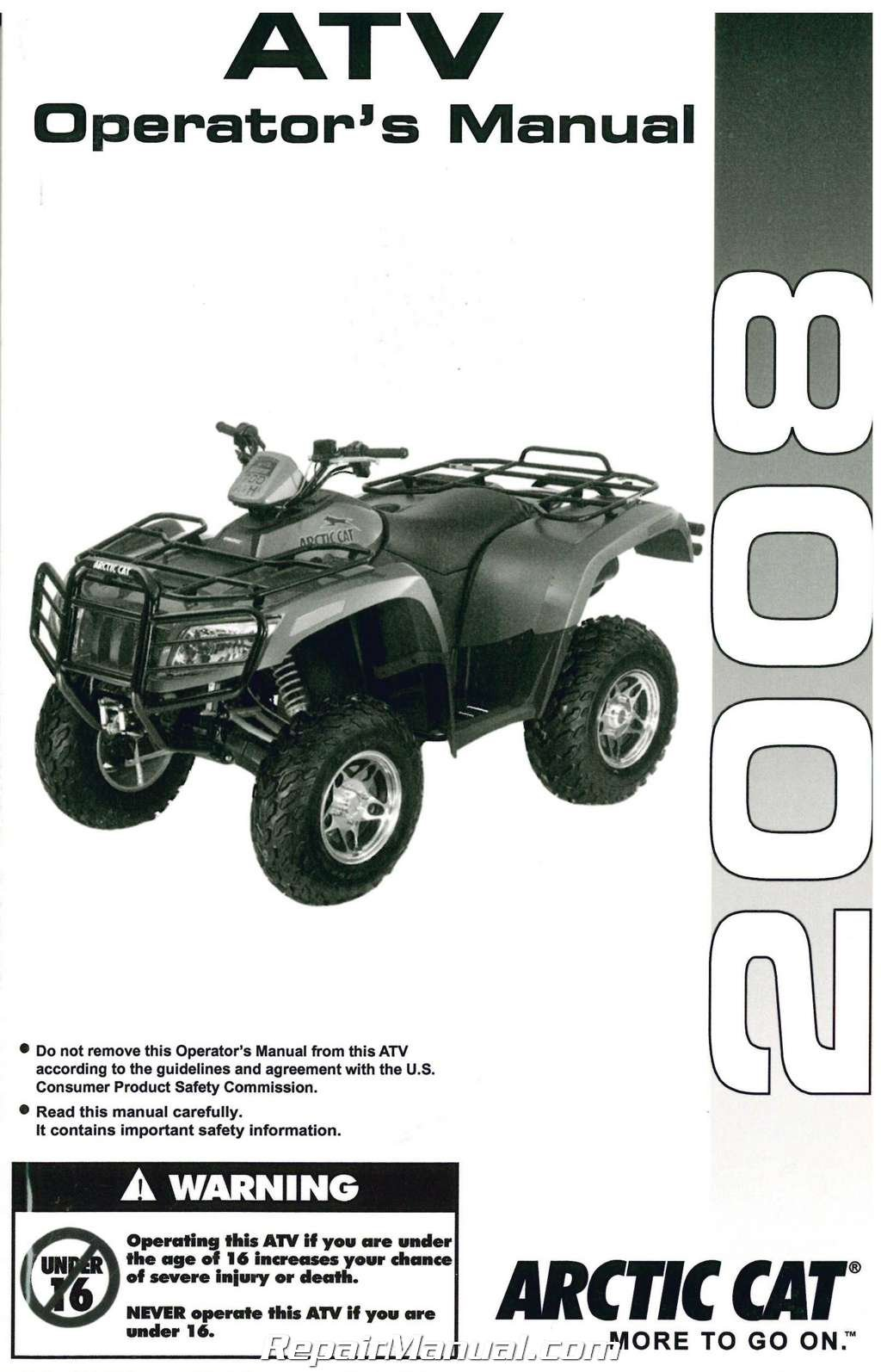 2257-886 2008 Arctic Cat ATV 400 500 650 700 Owners Manual: Manufacturer:  Amazon.com: Books