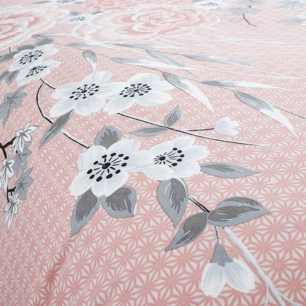 leicht zu pflegen Blush Catherine Lansfield Oriental Blossom Bettw/äsche-Set f/ür King-Size-Betten