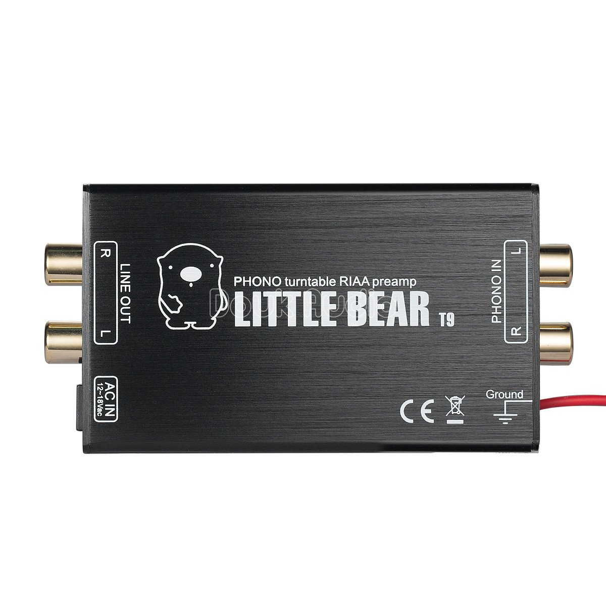 Nobsound Little Bear T9 Mini Phono Stage Preamp MM Moving Magnet Turntables Pre-Amplifier; RIAA MM HiFi Stereo LP Vinyl Preamp (Aluminium Alloy Shell) 4330977361