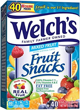 40-Count Welch's 0.9 Ounce Mixed Fruit Snacks
