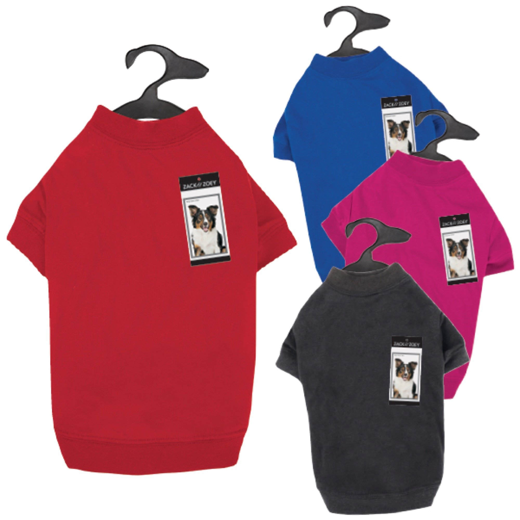 Zack & Zoey Basic Tee Shirt for Dogs, 20'' Large, Black by Zack & Zoey (Image #4)