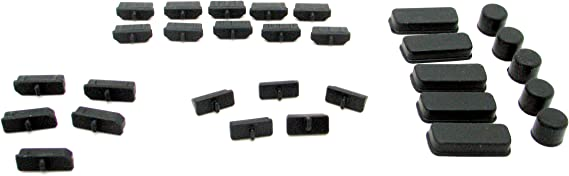 GPU Motherboard DVI HDMI USB RJ45 Display Port Dust Cover Protectors - 30pcs Black