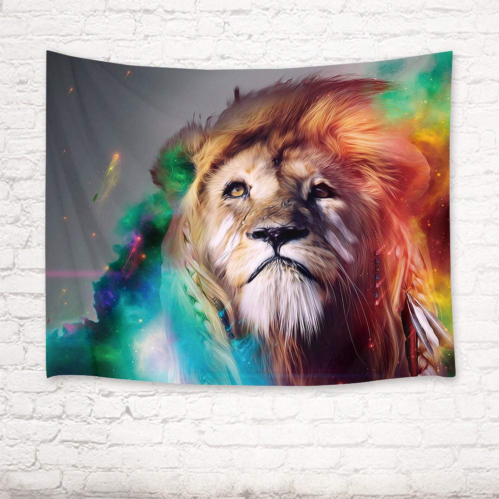 mmzki Tigre/león/Mapache/Gato/pingüino/Caballo/Tapiz de Toalla de ...