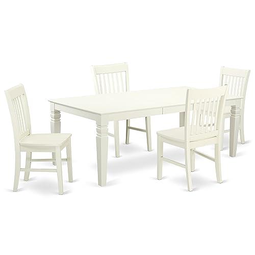 LGNO5-LWH-W 5 Piece Dining Room Set
