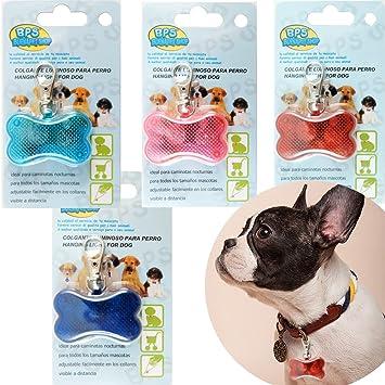 BPS® 4x Colgante Luminoso LED para Mascotas Perros Gatos 3 Flash Modos, Hay Papel