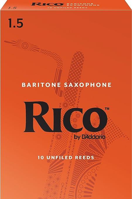 10-pack Strength 1.5 Rico by DAddario RLA1015 Baritone Sax Reeds