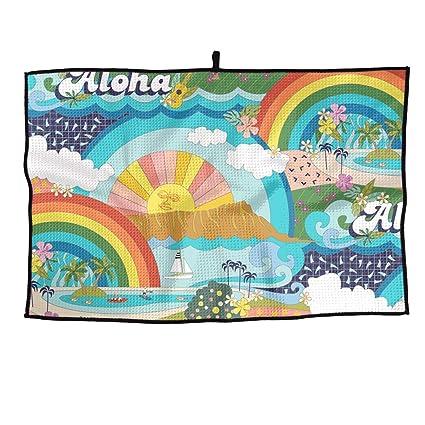Amazon com : Weitaoying Microfiber Waffle Golf Towel Hawaii