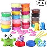 IBASETOY Springknete - Intelligente Kinderknete Knete Hüpfknete für Kinder DIY Handgemachtes Lernen, Kindergeburtstag, 24 Farben