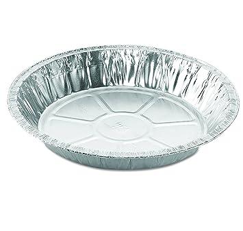 Catering Essentials - Lote de 25 sartenes desechables de aluminio de 22,8 cm, tamaño estándar de 22,8 cm x 3 cm: Amazon.es: Hogar